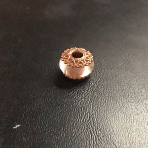 PANDORA Iridescent Murano Glass Charm Rose Gold